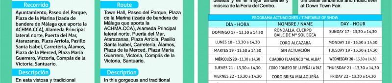 folleto/ brochure Caseta Feria 214 y Romería